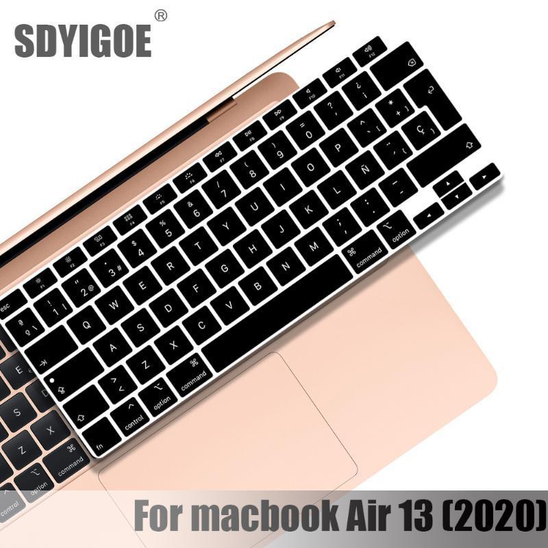 2020 키보드 커버 노트북 보호 필름 13 인치 A2179 실리콘 키보드 커버 러시아어 프랑스어 스페인어 한국