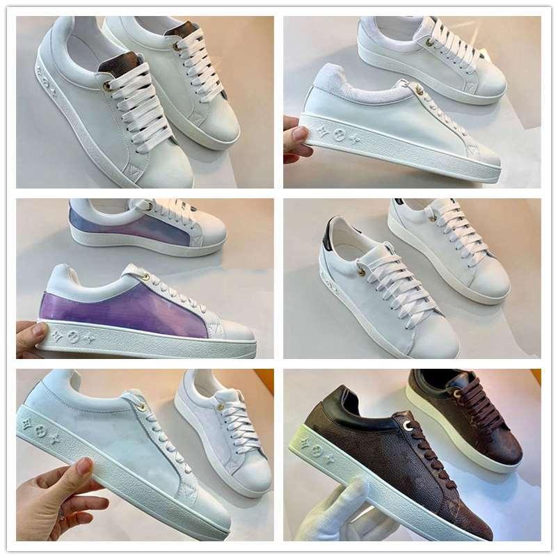Homens Mulheres Platform Shoe Shoe Casual Moda Mulheres Sapatos de couro de homens Lace Up Chaussures Oversized Sole Sneakers Branco Preto