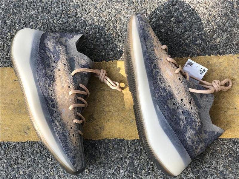 Sıcak Kanye West 888Boost 380 Mist yabancı Koşu Ayakkabı Tans 3M Yansıtıcı Dalga Runner Erkekler Kadınlar Primeknit Spor Sneakers FX9764 ile Kutusu