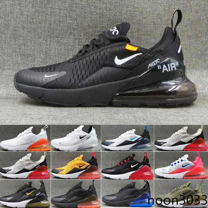nike air max 270 270s 27c airmax 2018 Rodage Chaussures Homme Femme de haute qualité Chaussures pas cher noir blanc bleu rouge Grenn Homme Chaussure de sport Chaussures Taille 3