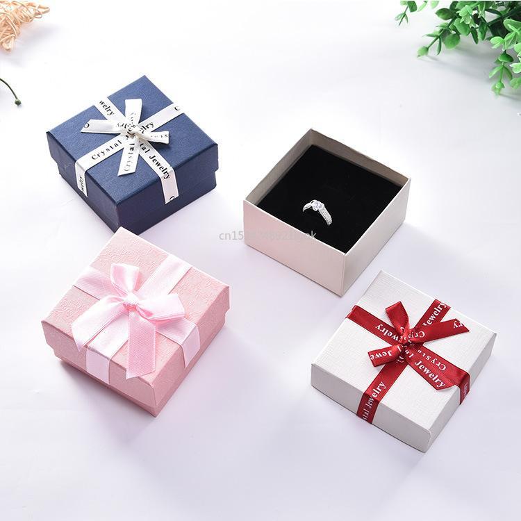 Regalo Wrap 12pcs Box all'ingrosso imballaggio bow box box box da donna gioielli supporto carta personalizzata stampata logo stampato