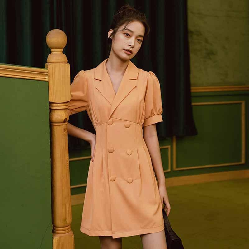 hB9ig Nuovo stile 1980 Hong Kong vestito short gonna corta vestito di stile piccolo piccolo vestito nero abito gonna Hepburn