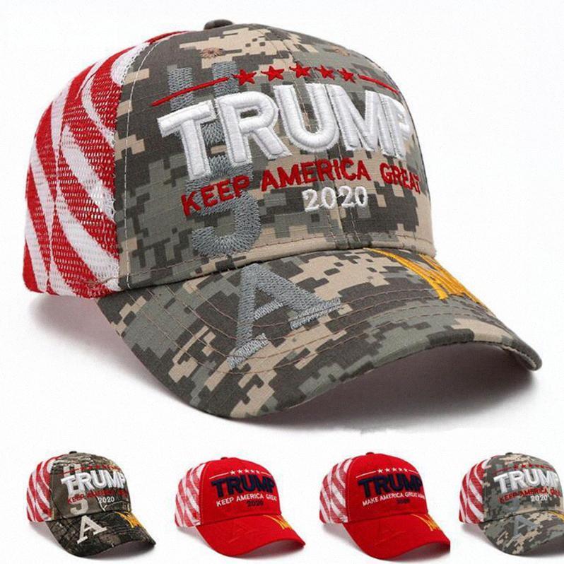 Donald Trump sombrero de béisbol de 2020 Keep hacer de Estados Unidos gran deporte al aire libre ajustable del Snapback Camo del partido gorro DDA164 Bons #