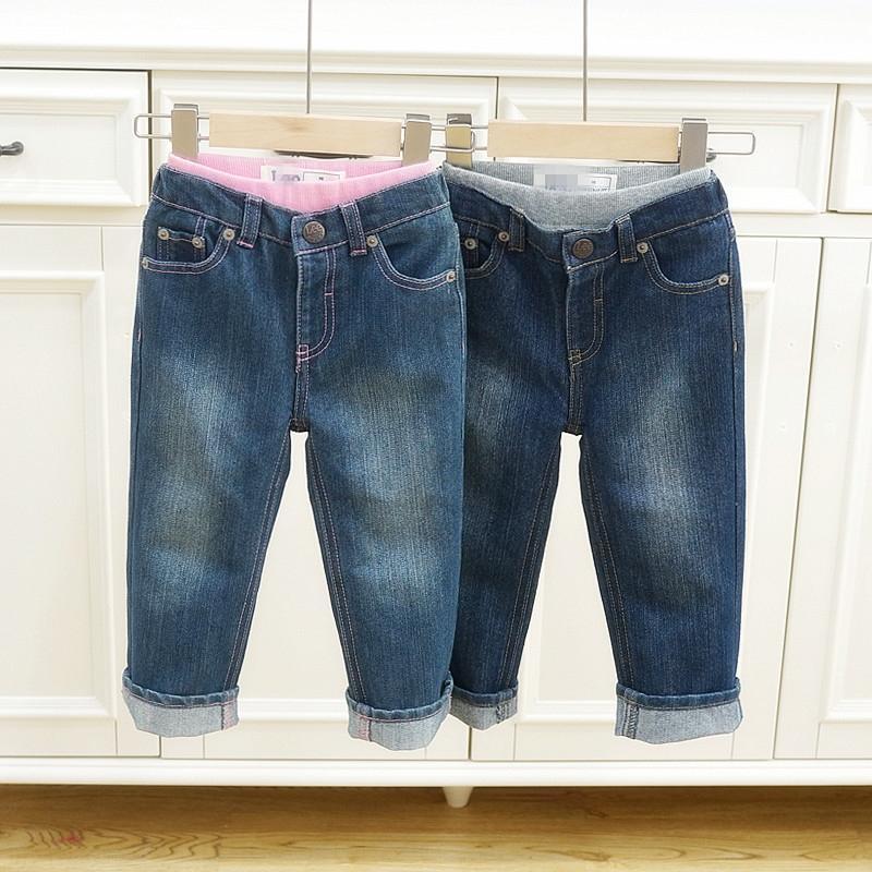 dei vestiti dei bambini per le ragazze dei ragazzi autunno e l'inverno e indossare Jeans per bambini pantaloni elastici linea di cintura regolabile LE