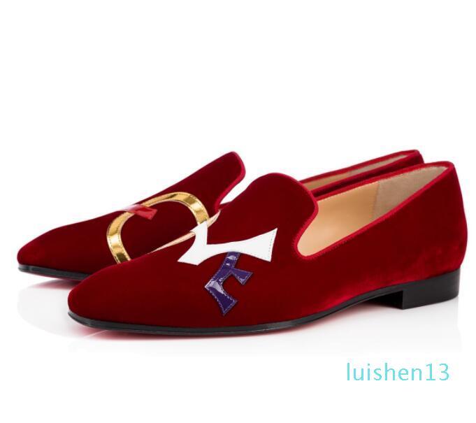 Luxury Red Bottom Dandylove Мокасины Flat для мужчин Oxford Perfect Quality Мокасины партии свадебное платье Walking черный, красный l13