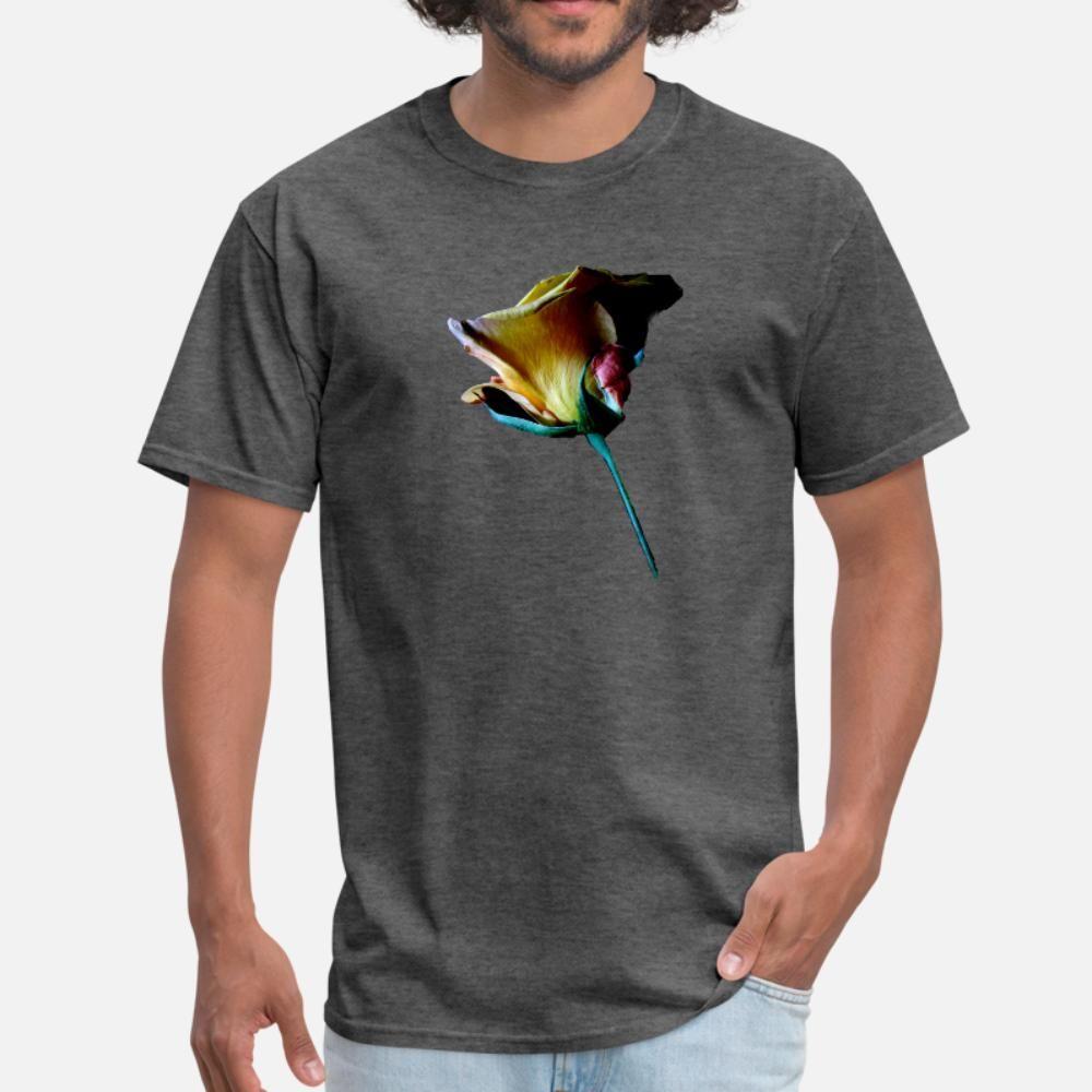 Una rosa por Ti hombres de la camiseta impresa manga corta cuello redondo camisa de la novedad del regalo del verano del estilo cómico de Cartas