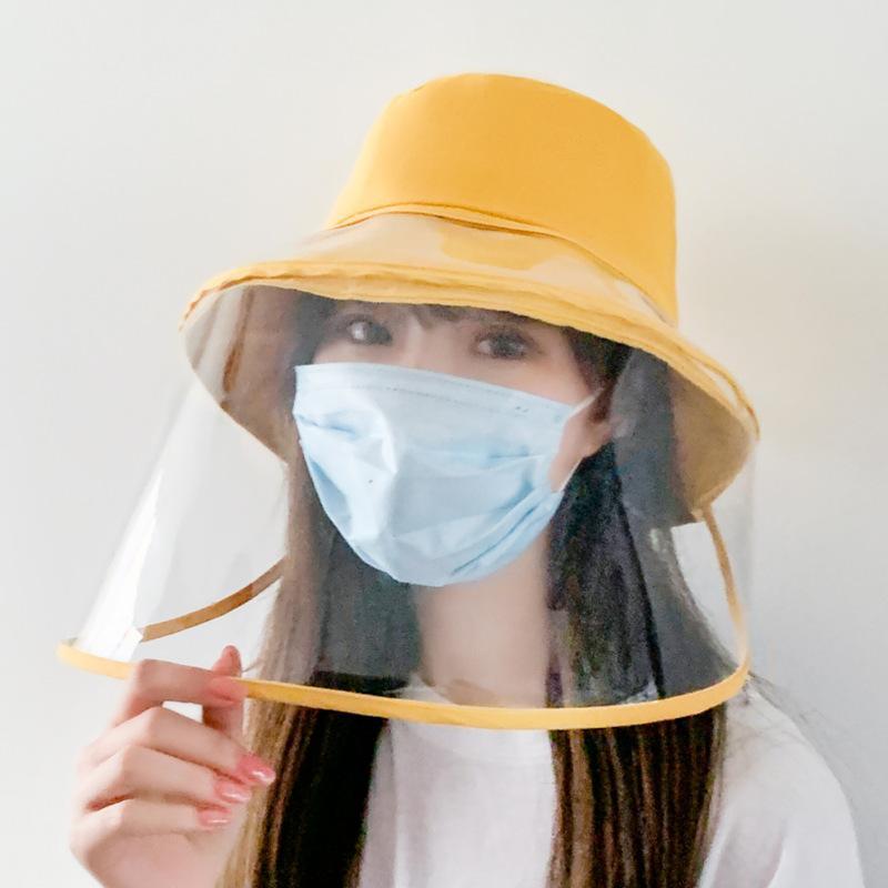 Casquillo de Sun antivaho Panamá sombrero unisex del verano anti-saliva de cubo sombreros de ala grande transparente sombrero de protección extraíble Pescador