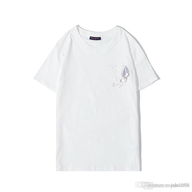 Erkekler Kısa Sleeve Erkek Ve Kadın T Gömlek Yaz Streetwear Casual T Shirt Erkekler için 2020 Moda Tasarımcısı T Gömlek