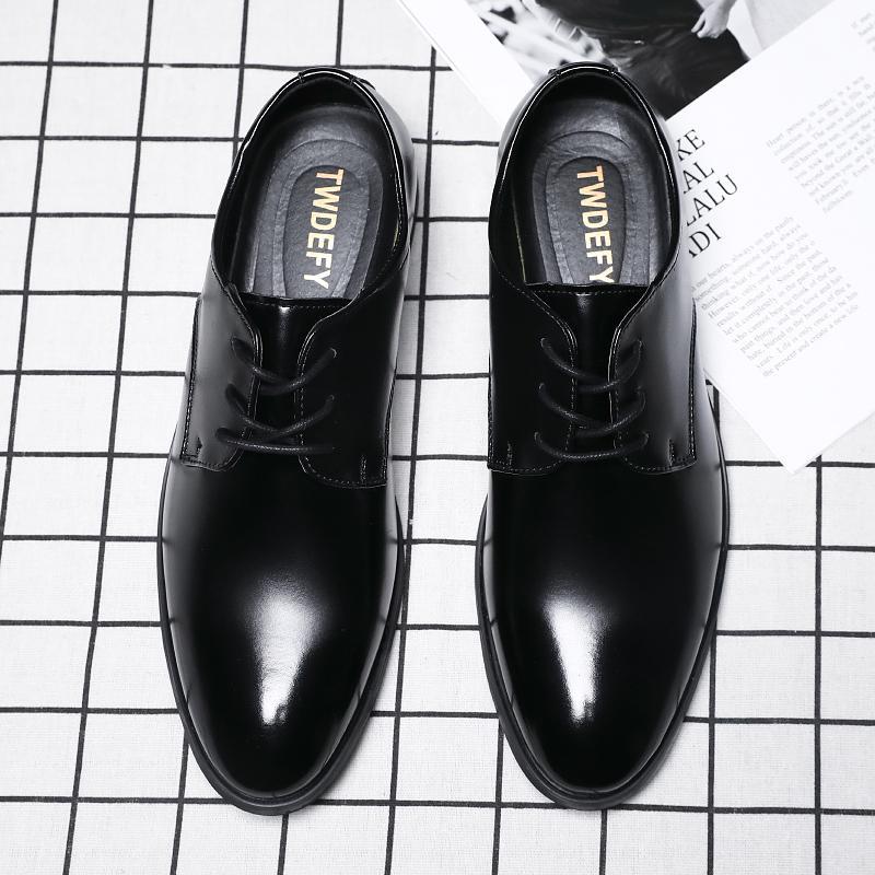 Мода ретро Oxfords обувь Мужчины 2020 Кожа Формальные обувь Мужчины Комфортное Lace Dress Up Элегантная обувь Плюс Размер HV-013