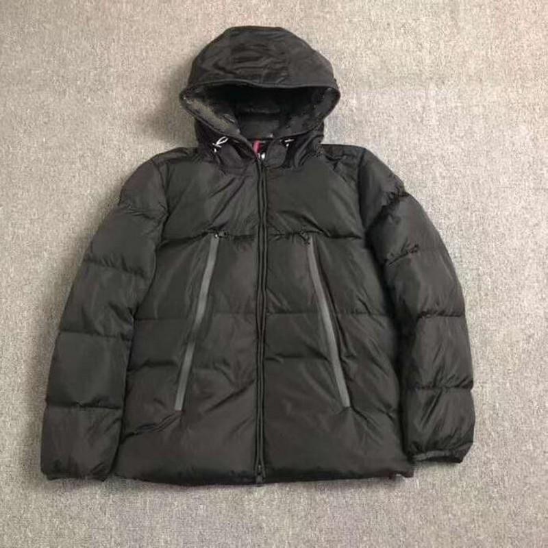 Mens inverno del cappotto del rivestimento anatra Windbreaker bianco piumino parka puffer spessore caldo incappucciato di alta qualità Casual Jacket Moda nord inverno