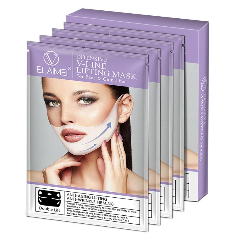 100PCS ELAIMEI 브랜드 V 얼굴 턱 마스크를 조각 목 MaskPatch 더블 친 리듀서 목 리프트 모이스처 라이징 마스크