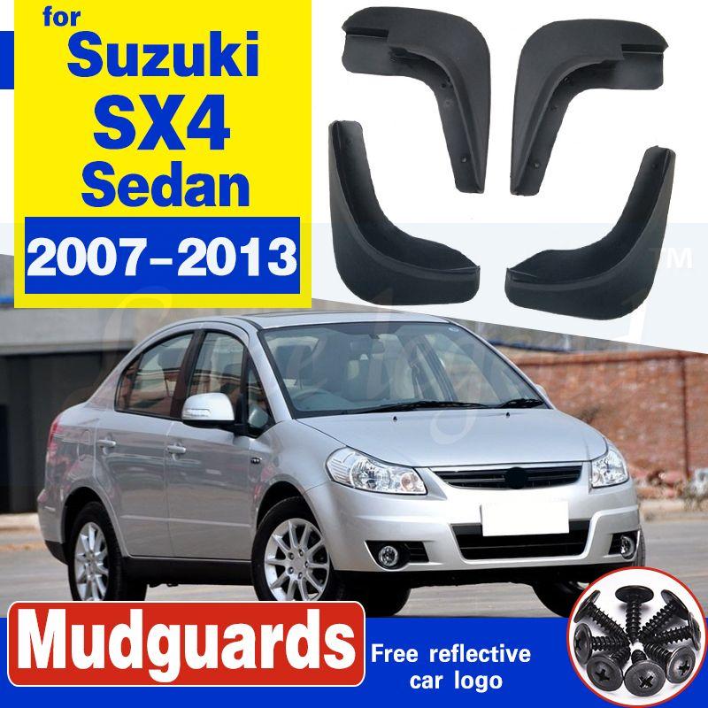 Car la boue Pour la période 2007-2013 FLAPS Suzuki SX4 berline 4 portes Bavettes garde-boue BOUE Garde-boue Fender 2008 2009 2010 2011 2012