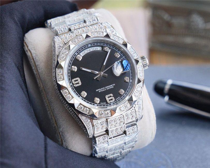 2020 Качество мужской размер модели 41mmX12mm904L прецизионные стальные Авгиевы механические часы водонепроницаемые часы мужчины часы
