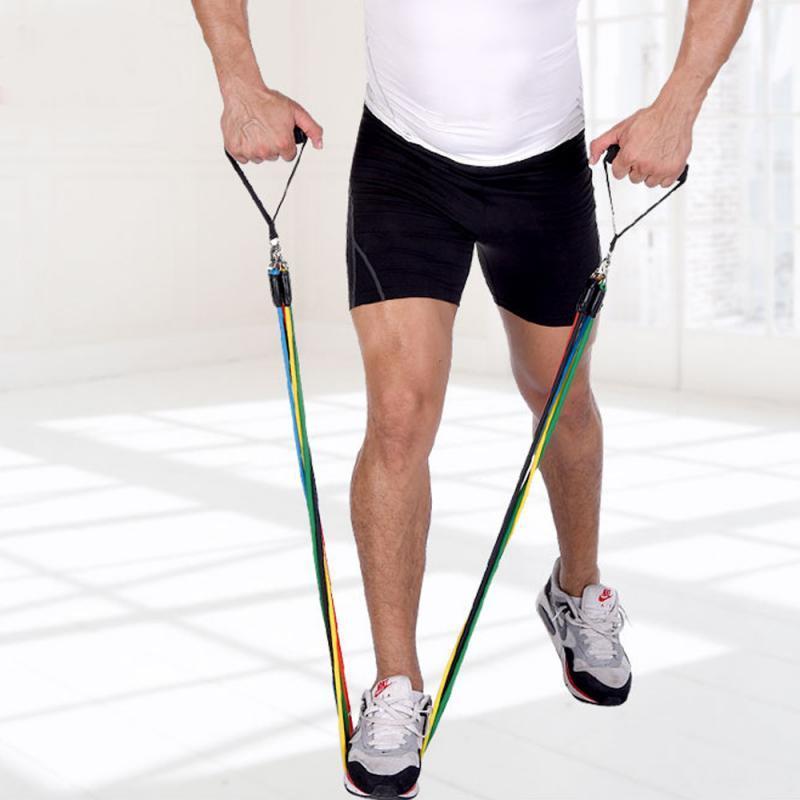 Direnç bantları 11pc Direnç seti eğitim aile eğitim Ev Spor Ekipmanları 100 kg'a kadar taşıyabilir
