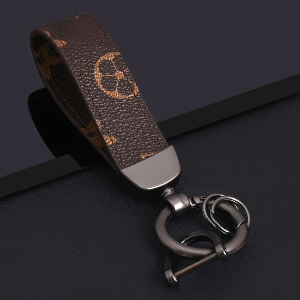 Kreative Leder Anhänger Geschäft Autoanhänger Hufeisen Schlüsselanhänger Schlüsselkettenring Geschenk Damen BnhZk