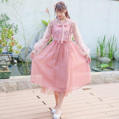 camisa de protección solar artística mujeres del estilo chino elemento gmz6I lMn4j Estilo del verano honda honda plisado cintura alta para el vestido mejorado dre