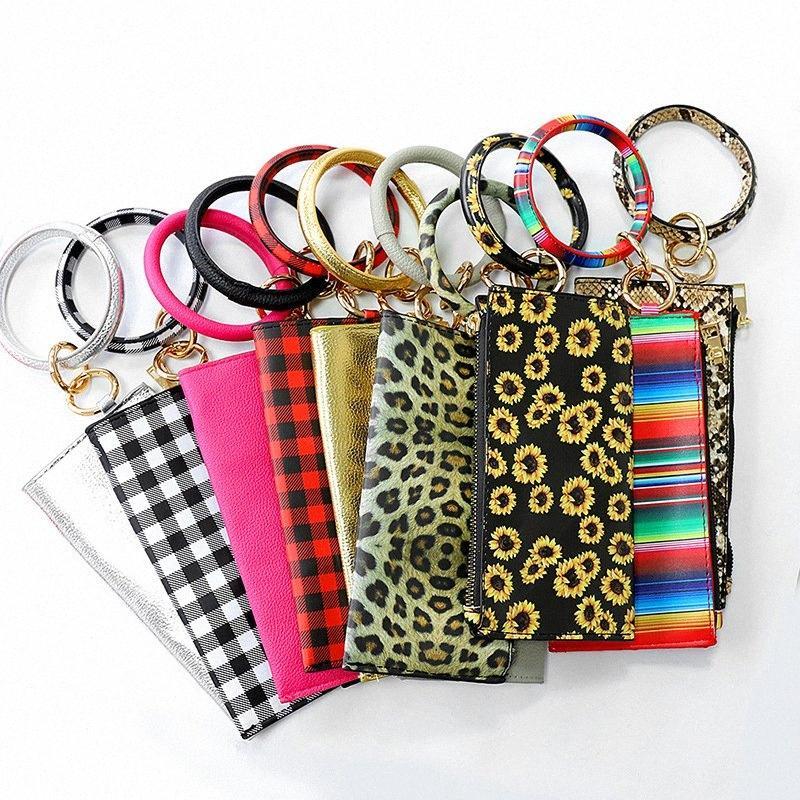 PU браслет Кошельки кожаных наручного Брелок плед брелок сумка Leopard браслеты Подвеска кошелек Lady сцепление сумка для рук нести сумки GGA30 AKlS #