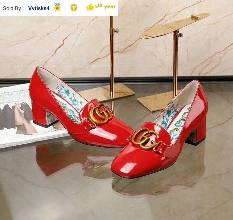 fashion red patent leather square head high heels Women High heels Sandals Slippers Mules Slides PUMPS SHOES SNEAKERS