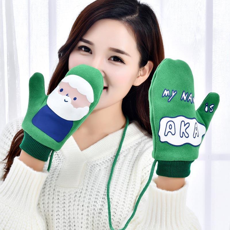 Новые моды для женщин зимние варежки печати Прекрасные люди Живые животные Симпатичные узоры Цвета Теплые перчатки С Ханг талреп