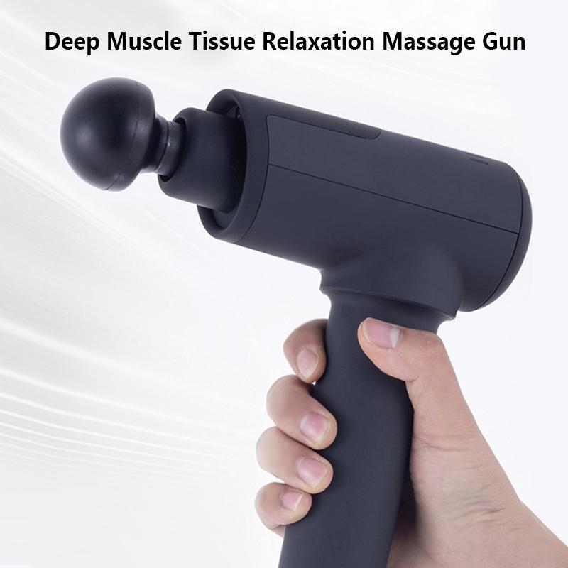 Tragbare Körpermassage Gun Massage 8 Geschwindigkeit LCD Display Touch Control 4pcs hohe Schlag theray Kopf tief Muskelgewebes Relax Schmerzlinderung