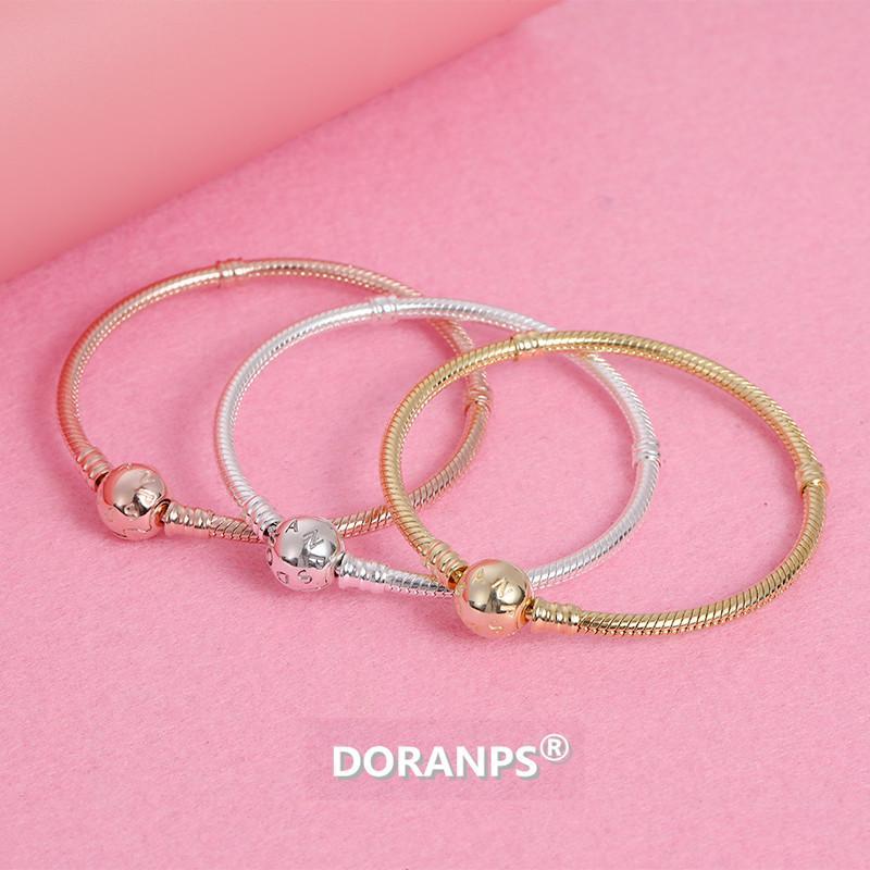 2021 Nouveau DORANPS Bracelet amitié créatrice de bijoux pour les femmes chaîne de serpent bracelet argent 925 cadeaux jewelries