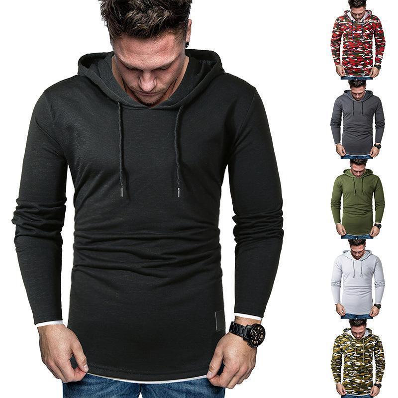 Sweat à capuche Slim Casual Pull Homme Vêtements Hommes 2020 de luxe de taille Sweats à capuche Mode Plus lambrissé
