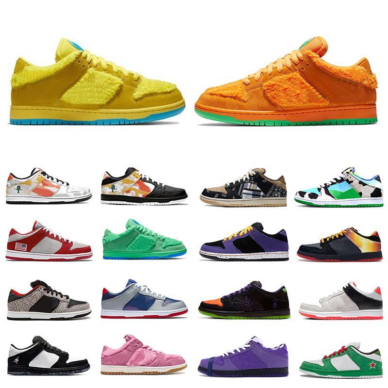 Designer panda mode pigeon Travsi Scotts Nike SB dunk Chunky Dunky Hommes Femmes Occasionnels Chaussures de basket-ball Planche à roulettes 36-45