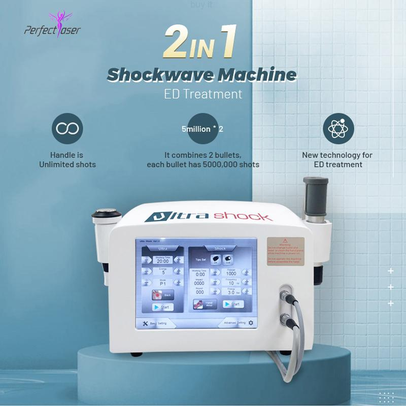 máquinas para la disfunción eréctil Shockwave terapia de la máquina de ondas de choque alivio del dolor terapia electromagnética máquina de ondas de choque portátil para la venta