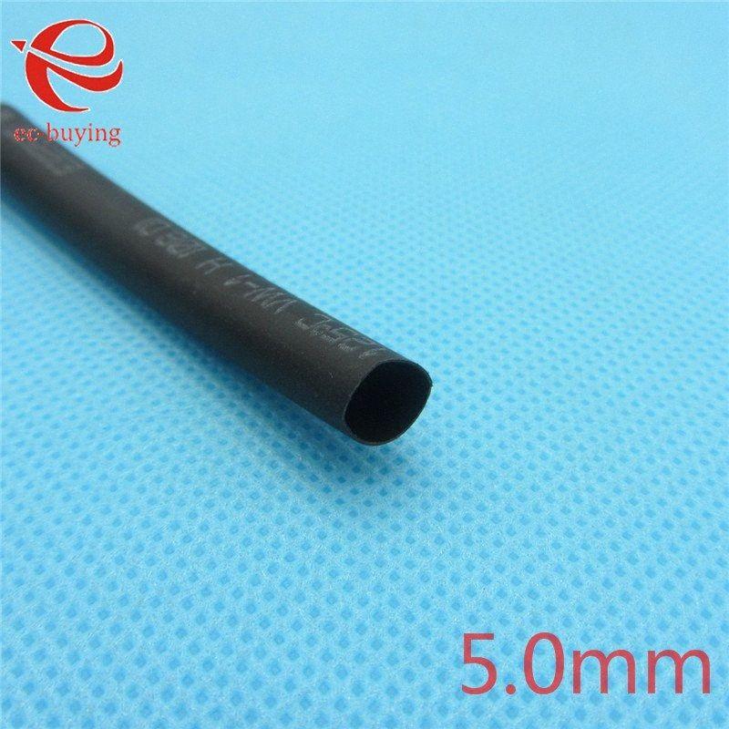 Wholesale-1m Heat Shrink Tubing Insulation Sleeving Heatshrink Tubing 125 Celsius Black Tube Wire Wrap Cable Kit Inner Diameter 5mm pUi5#