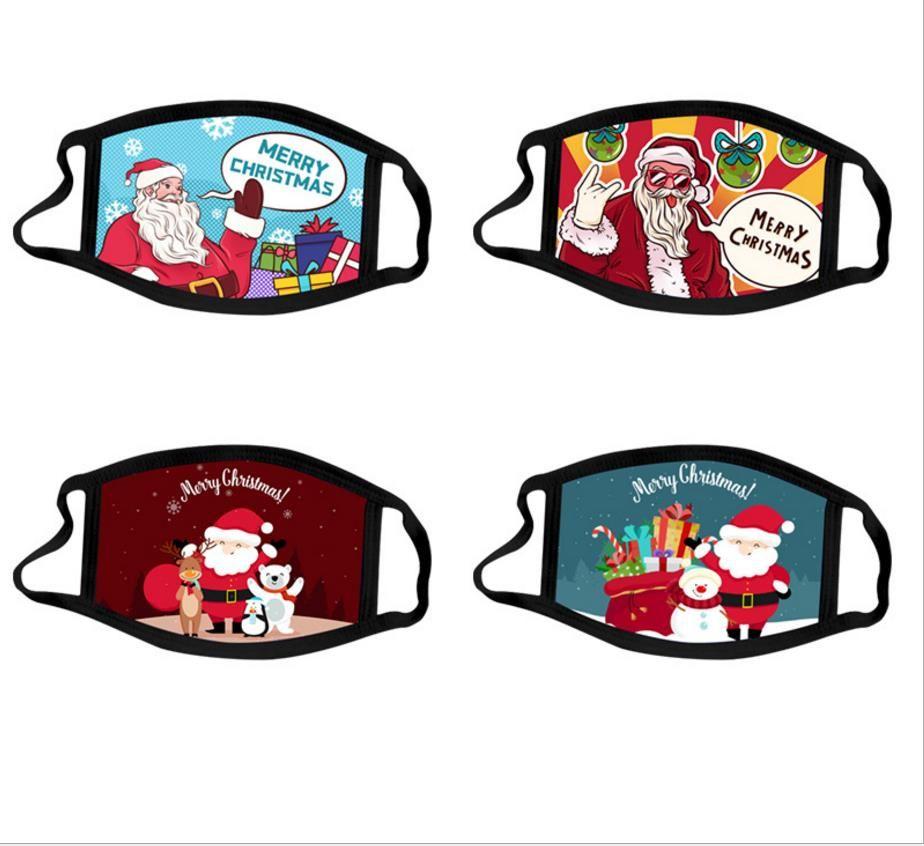 Patrones de Navidad Mascarilla algodón de vacaciones Impreso cara caliente fundas lavables del polvo anti Para adultos paquete individual adolescente