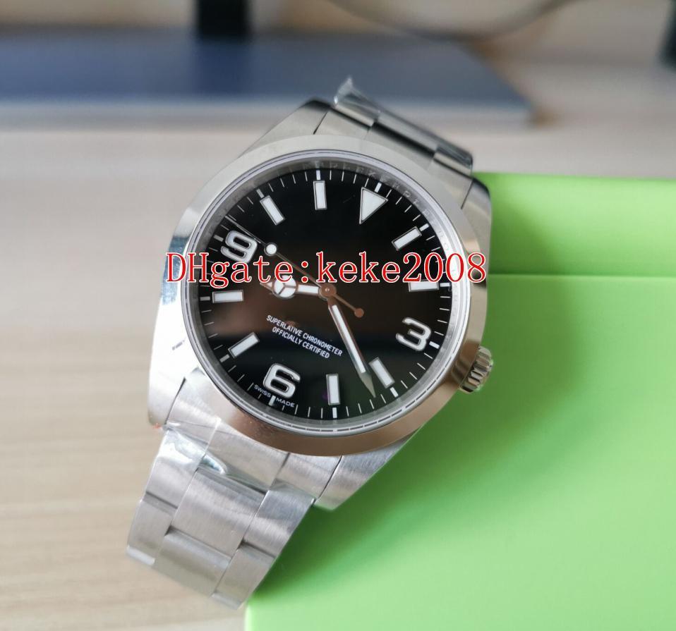 Top BP fábrica V3 pulso Explorador 214270-77200 214720 39 milímetros aço inoxidável 316L 2813 Movimento automático mecânicos Men Watch Watches