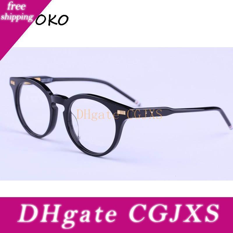 Großhandel -Hot Sonnenbrille Rahmen Tb -404 Plank Rahmen Glas-Feld alte Weisen wieder herstellt Oculos De Grau Männer und Frauen Myopie Brillen Fra