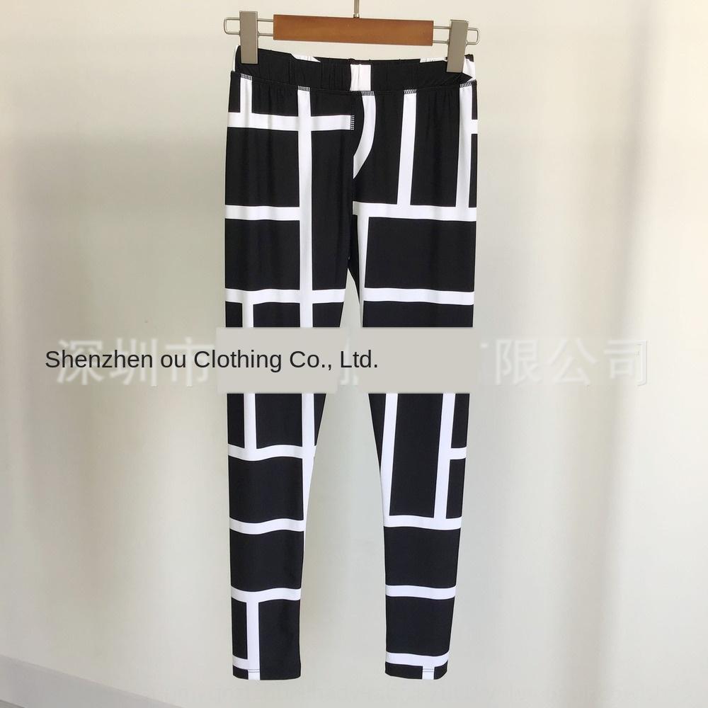 Oe3lk Nordic niche design classic geometric stripes high elastic Nordic niche design Leggings classic geometric stripes high elastic pants t