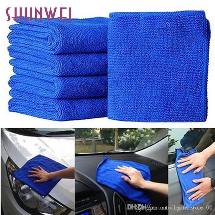 All'ingrosso Car-styling in microfibra lavaggio auto nuova pratica Blu morbida assorbente Wash panno Auto Auto Care FE28 Levert Dropship
