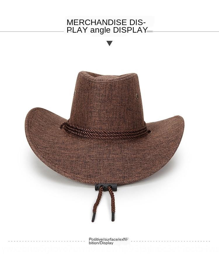 Frühlings- und Sommermänner Gestaltung Hut westlichen Cowboy kühlen Cowboy mongolische Reitpferd Sonnenhut Strand kühl