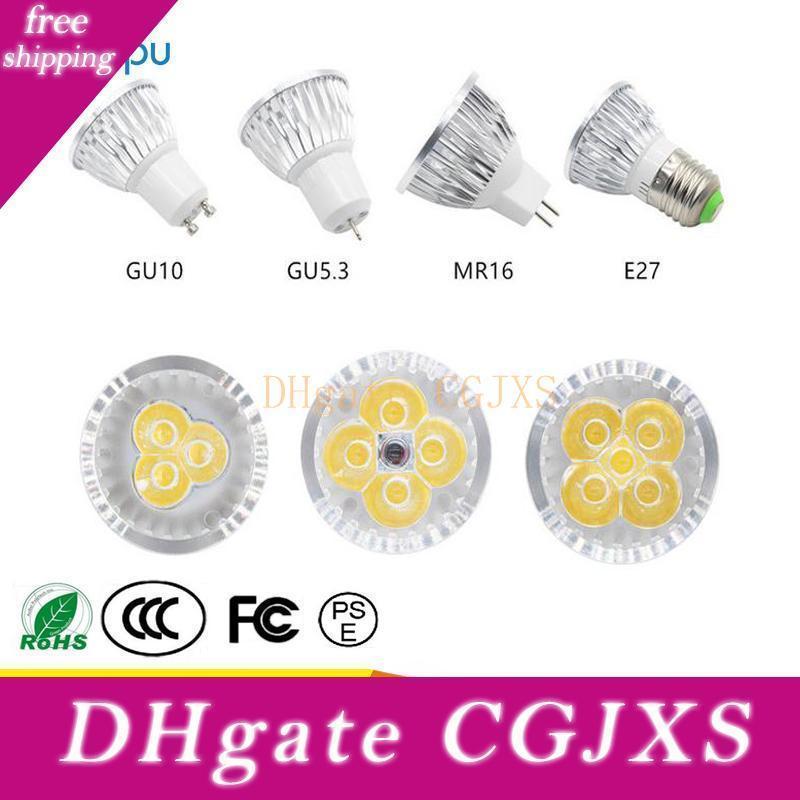 Llevado proyector del bulbo de la lámpara Led proyector llevado 9w 12w 15w alta calidad GU10 Luz Lampada 85 -265V