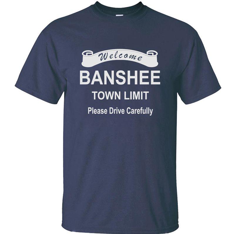 Örme Mizah Banshee erkekler streetwear Leisure için roadsign t shirt t gömlek O-Boyun Kısa Sleeve Comic Üst Kalite mens