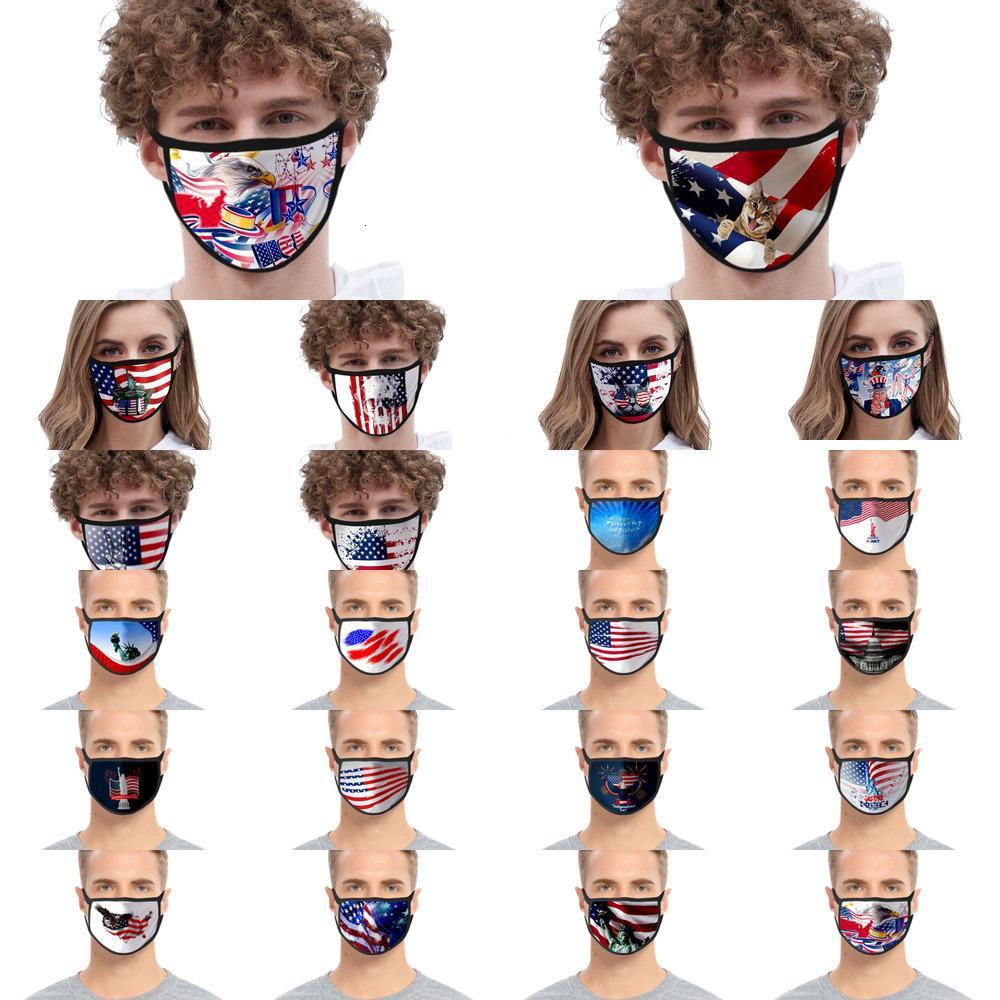 Qualité Coton gros enfants Confortable visage Top 3 couches Styliste Masque adulte Masques anti-poussière Earloop # 202005154 aq738