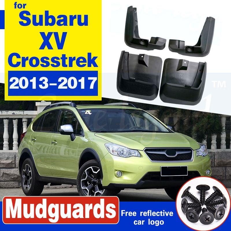 Für Subaru XV Crosstrek 2013-2017 Set Molded Auto Schmutzfänger Schmutzfänger Schmutzfänger Schmutzfänger Kotflügel Kotflügel vorn hinten Styling