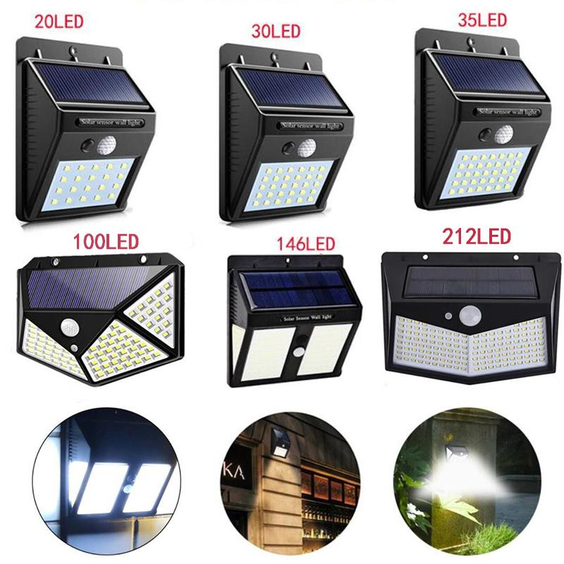 Luzes Solar Outdoor LED Jardim Lights PIR Motion Sensor Solar Powered Luz Solar Iluminação Pathway Lâmpada de parede