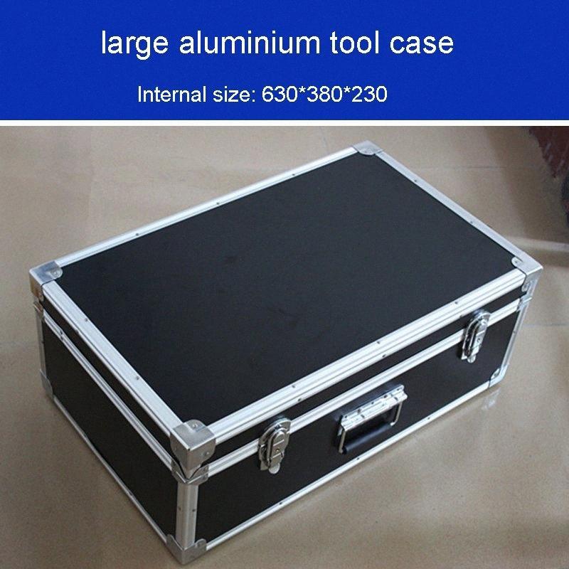 grande caso ferramenta de alumínio à prova de choque humidade caixa de ferramentas mais durável caixa de rolamento instrumento caixa equipamento caso bin 625 * 375 * 230 mm QdlJ #
