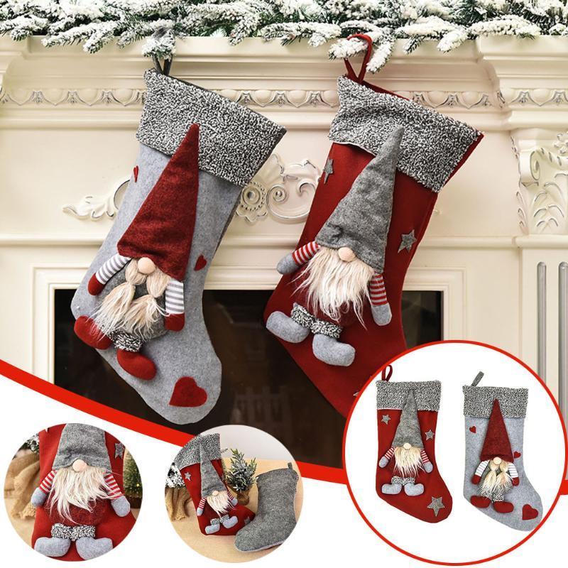 2021 Sankt-Schneemann-Anhänger Ornamente Neujahr Socken Weihnachtsdekorationen für Haus Frohe Baumschmuck