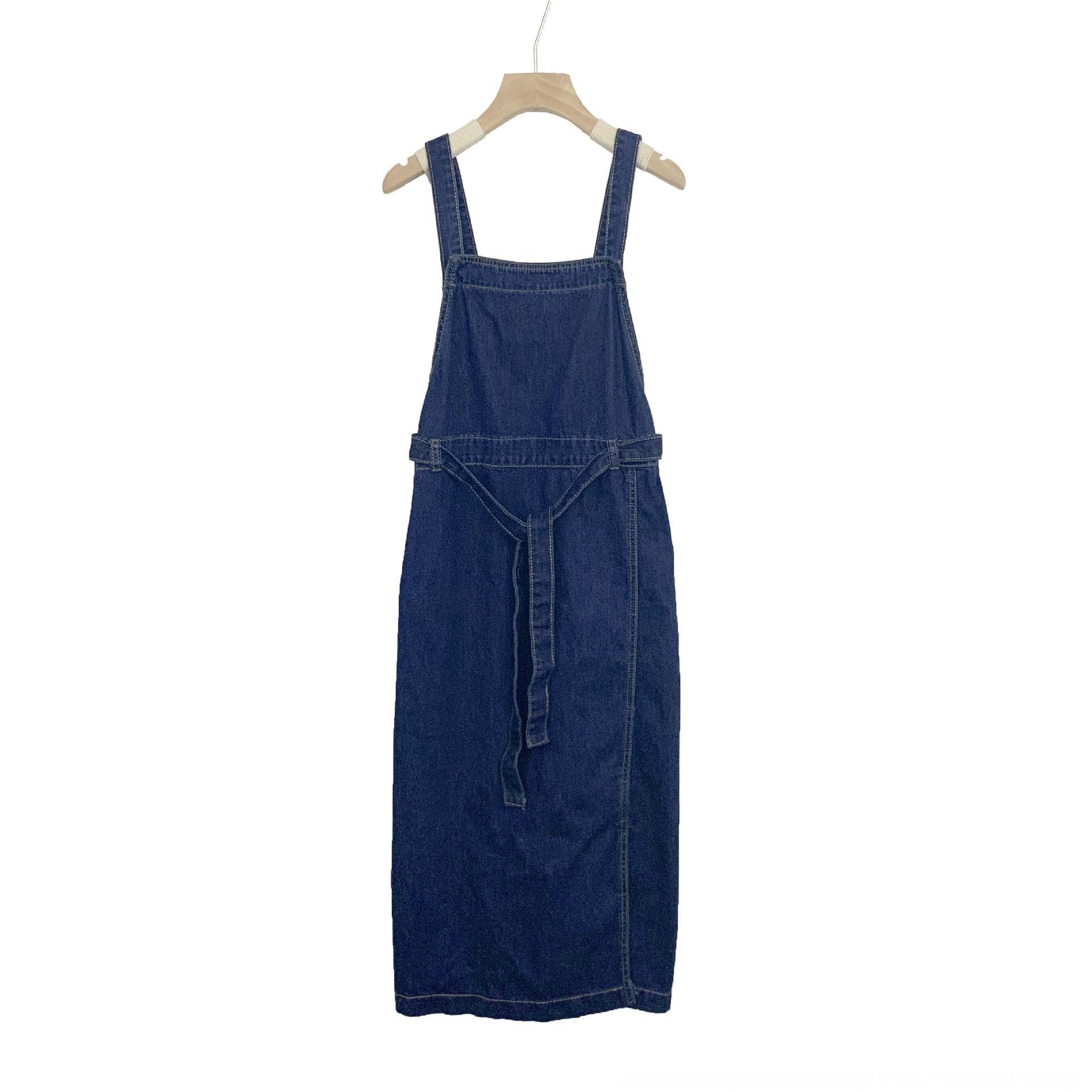 lXVsG Yuyi новых 2020 летних тонких платья лета женщин женщин стиля сыпучего похудения талия ины тонкого юбка Женских джинсовая ремень юбка женщины