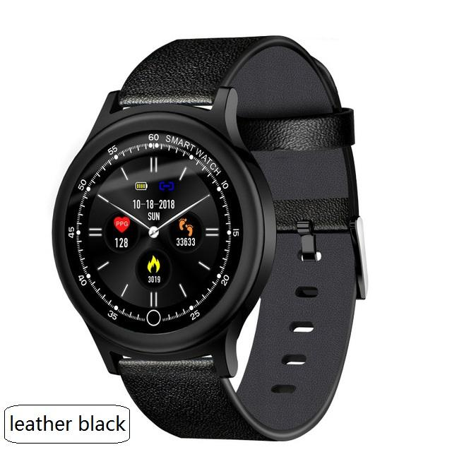 Q28 Smart Bracelet IP68 Waterproof Smart Band Hear Rate Blood Pressure Monitor Fitness Tracker Sport Smart Watch Leather Watch.