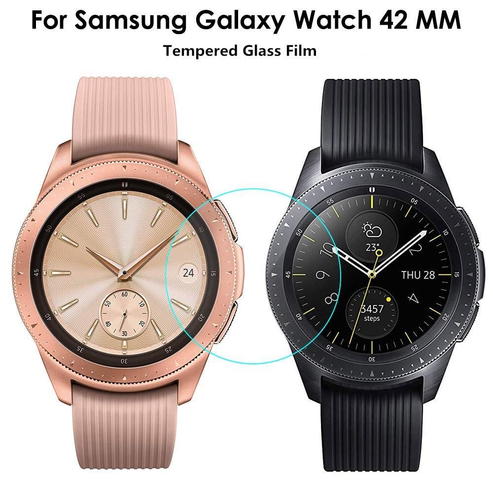 Protector de pantalla de vidrio templado de 2 Unids para Samsung Galaxy Watch 46mm 42mm 45mm 41mm Pantalla protectora de la pantalla protectora Anti explosión Guardia superior Calidad