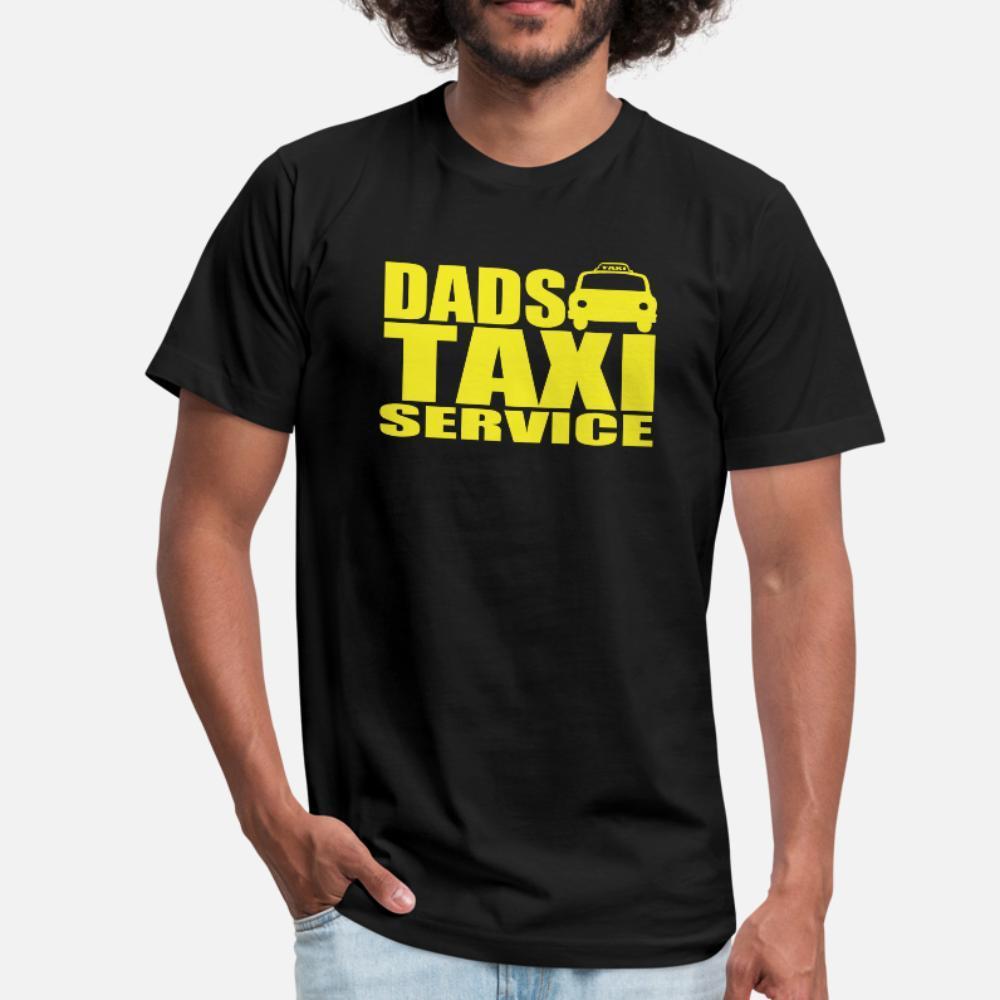 Papas hommes shirt Taxi t imprimé 100% coton col rond graphique originale Casual Printemps Automne chemise naturelle