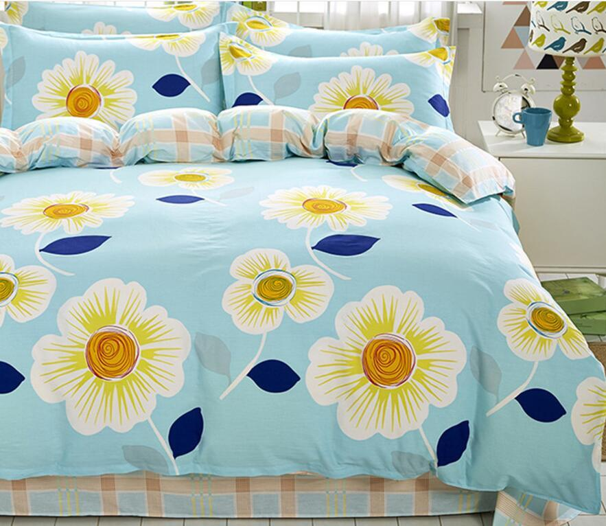 B5 designer bed comforters sets Print Bedding Set 4 Pieces Bed Sheet Europe and America Bedding Suit Business Hot Sell Quilt Cover
