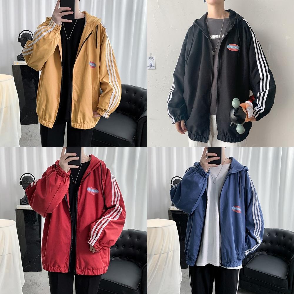 bII5x printemps et l'automne nouveau style à la mode tout-match des hommes coréens hommes outillage occasionnels veste fonctionnelle veste veste belle