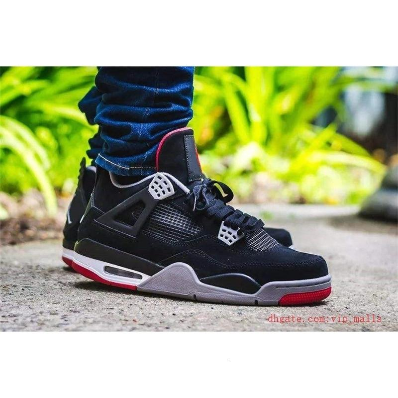 Venta de Baloncesto 2020 Bred zapatos para hombre Negro Gato cemento blanco Jumpman 4s Encore Alas Rojo Fuego aire Singles Retroes 4 IV Entrenadores de Dinero Pure
