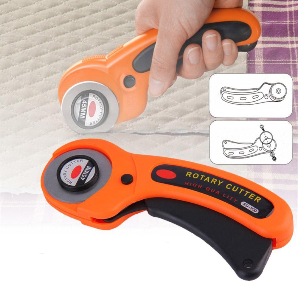 Rotary Cutter bricolage Arts Artisanat Tissu Outil de coupe Patchwork rouleau roue ronde Couteau à coudre Accessoires en cuir papier tissu